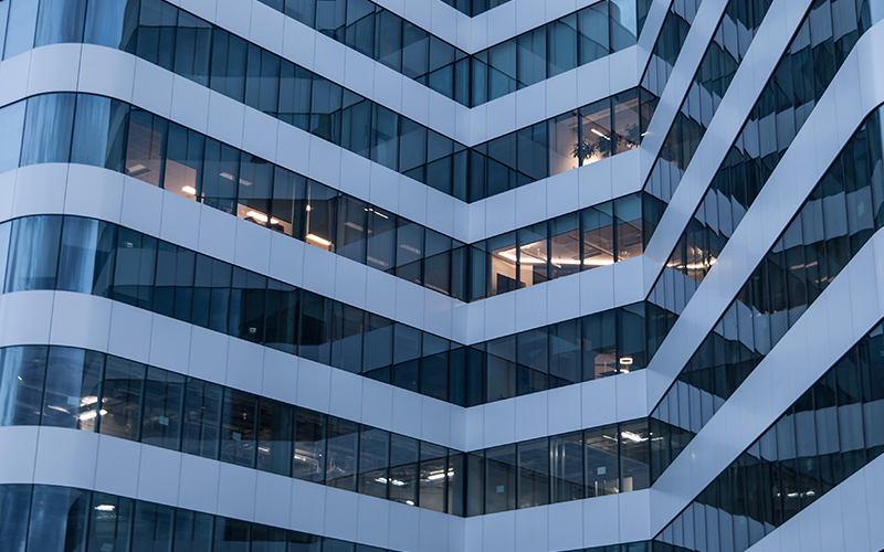 Safety measures for glass buildings